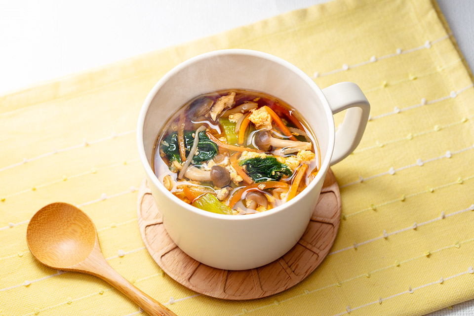 野菜たっぷり!旨辛スープ